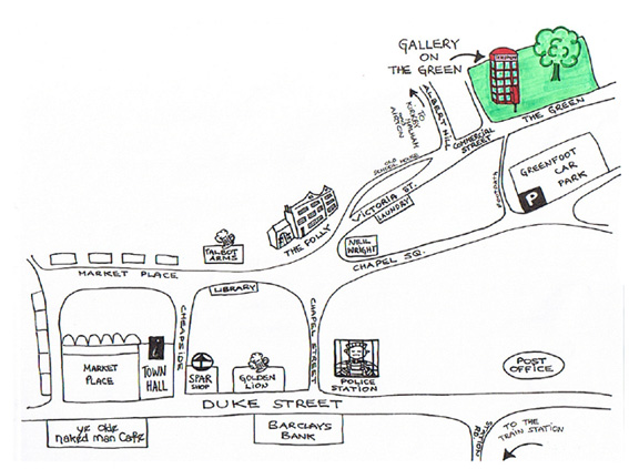 Map to the gallery
